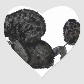 we luv standard poodles from Tony Fernandes Heart Sticker