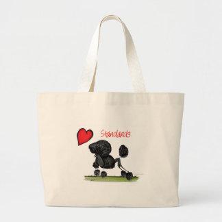 we luv standard poodles from Tony Fernandes Large Tote Bag