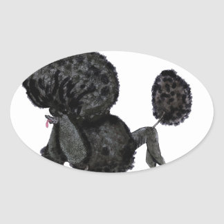 we luv standard poodles from Tony Fernandes Oval Sticker