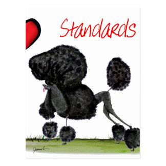 we luv standard poodles from Tony Fernandes Postcard