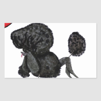 we luv standard poodles from Tony Fernandes Rectangular Sticker