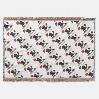we luv standard poodles from Tony Fernandes Throw Blanket