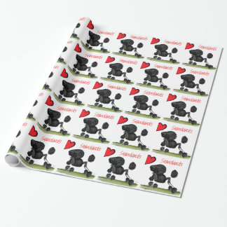 we luv standard poodles from Tony Fernandes Wrapping Paper