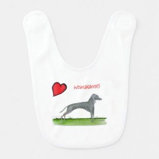 we luv weimaraners from Tony Fernandes Bib
