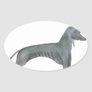 we luv weimaraners from Tony Fernandes Oval Sticker