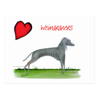 we luv weimaraners from Tony Fernandes Postcard