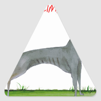 we luv weimaraners from Tony Fernandes Triangle Sticker