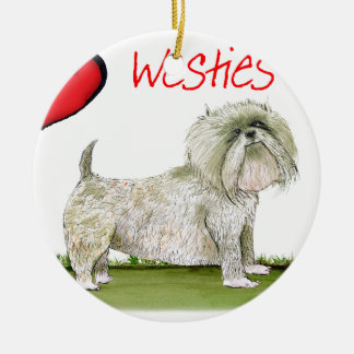 we luv westies from Tony Fernandes Ceramic Ornament