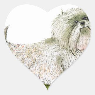 we luv westies from Tony Fernandes Heart Sticker