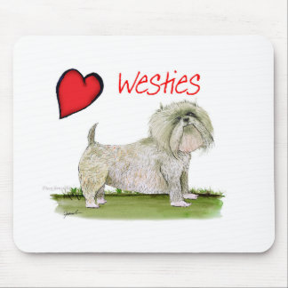 we luv westies from Tony Fernandes Mouse Pad