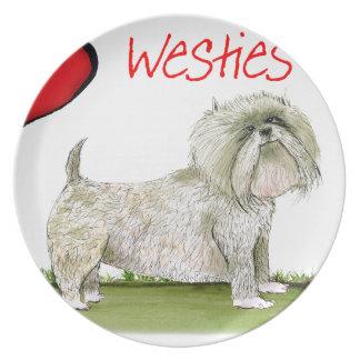 we luv westies from Tony Fernandes Plate