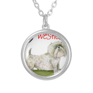 we luv westies from Tony Fernandes Silver Plated Necklace