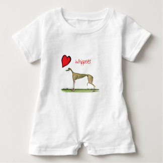 we luv whippets from Tony Fernandes Baby Bodysuit