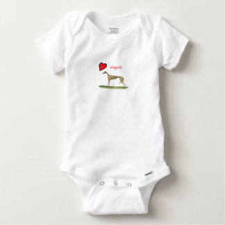 we luv whippets from Tony Fernandes Baby Onesie