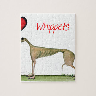 we luv whippets from Tony Fernandes Jigsaw Puzzle