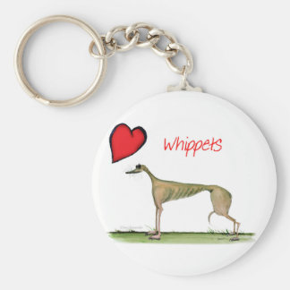 we luv whippets from Tony Fernandes Key Ring