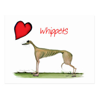 we luv whippets from Tony Fernandes Postcard