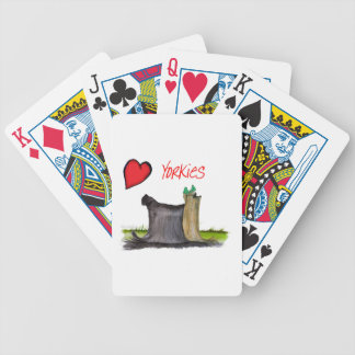 we luv yorkies from Tony Fernandes Bicycle Playing Cards