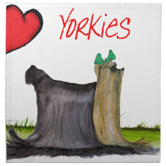 we luv yorkies from Tony Fernandes Napkin