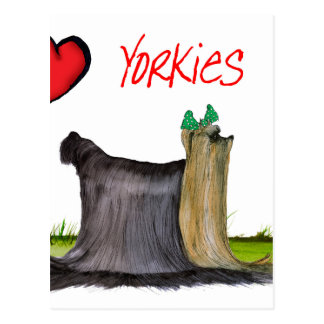 we luv yorkies from Tony Fernandes Postcard