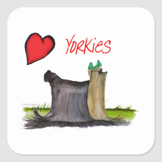 we luv yorkies from Tony Fernandes Square Sticker