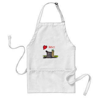 we luv yorkies from Tony Fernandes Standard Apron