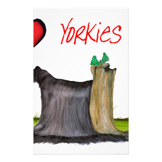 we luv yorkies from Tony Fernandes Stationery