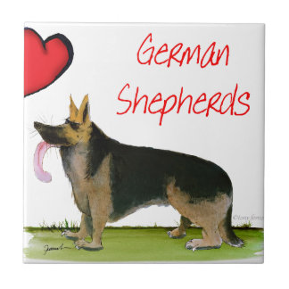 we luve german shepherds from Tony Fernandes Ceramic Tile