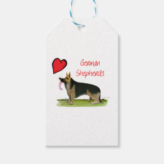 we luve german shepherds from Tony Fernandes Gift Tags