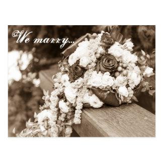 We marry... postcard
