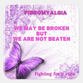 We may be broken but we're not beaten sticker