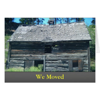 We Moved Card