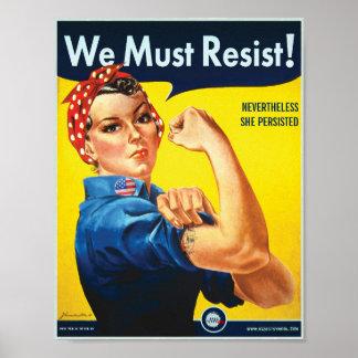 We Must Resist: Rosie Custom Protest Poster