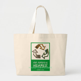 we only have one earth! large tote bag