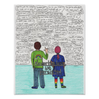 We Persisted (Bisexual) 11x14 Poster