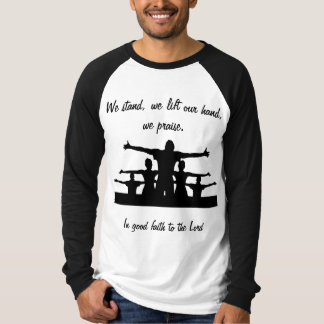 We praise to the Lord, Men's Canvas Long Sleeve Ra T-Shirt