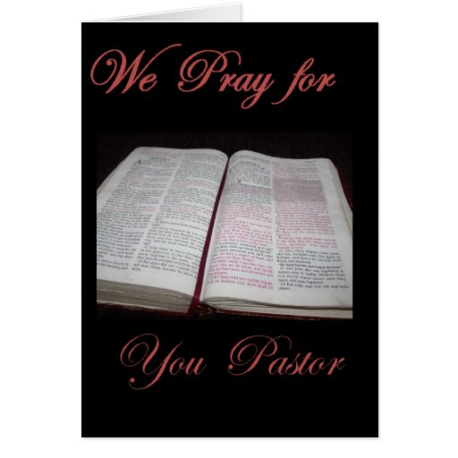 We Pray for you Pastor Greeting Card