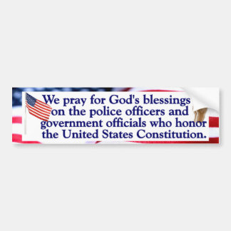 We pray God's blessings on Godly Leaders Bumper Sticker