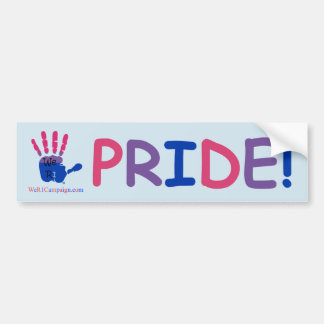 "We R1 Bisexual Hands ""PRIDE!"" Bumper Sticker"