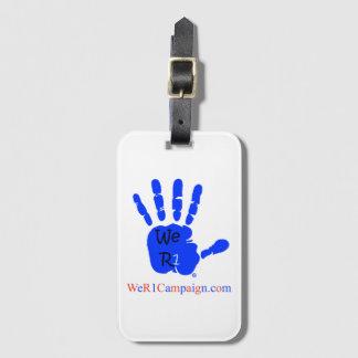 We R1 Blue Hand Luggage Tag