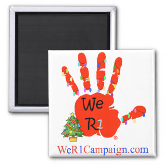 We R1 Christmas Hand Magnet
