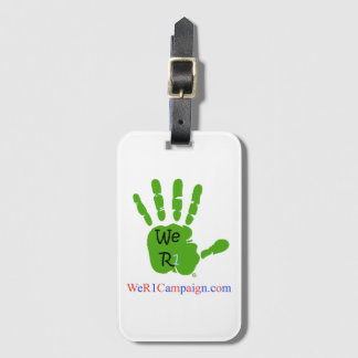 We R1 Green Hand Luggage Tag