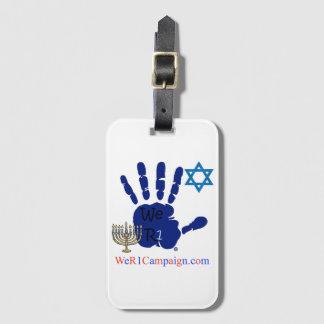 We R1 Jewish Hand Luggage Tag