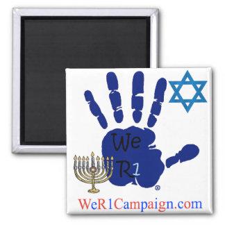 We R1 Jewish Hand Magnet