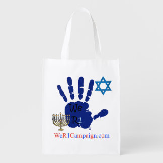 We R1 Jewish Reusable Shopping Bag