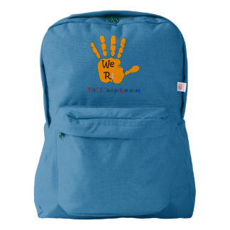 We R1 Orange Hand Backpack