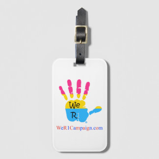 We R1 Pansexual Hand Luggage Tag