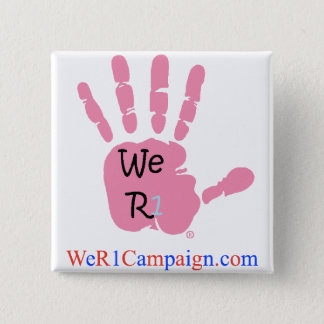 We R1 Pink Hand Button