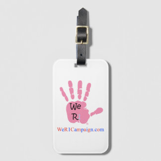 We R1 Pink Hand Luggage Tag