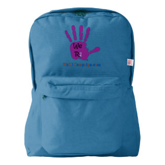 We R1 Purple Hand Backpack